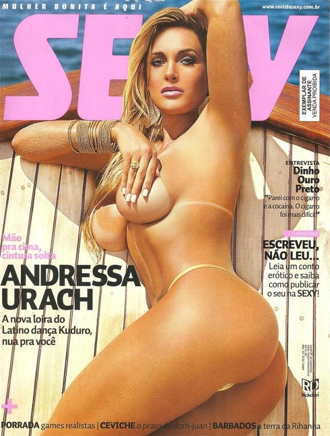 Andressa urach nua pelada na revista sexy